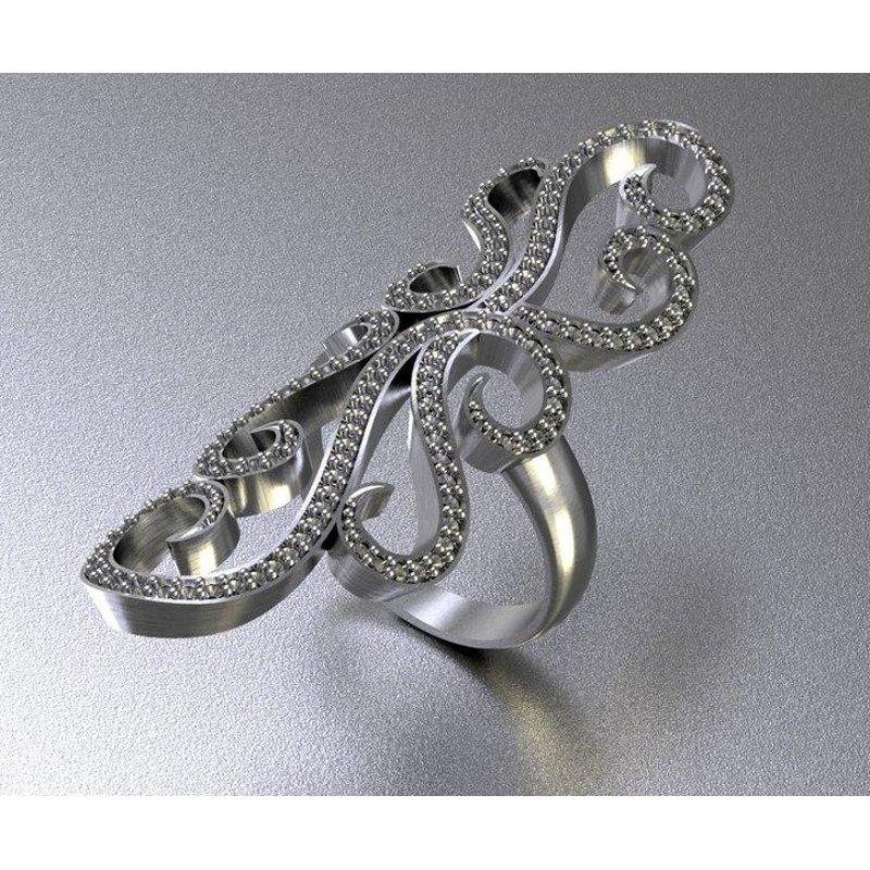 Antony Jewelers Bandage long gold fashion ring