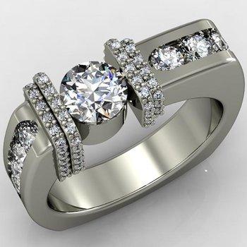 Geometrically designed fashion men's ring