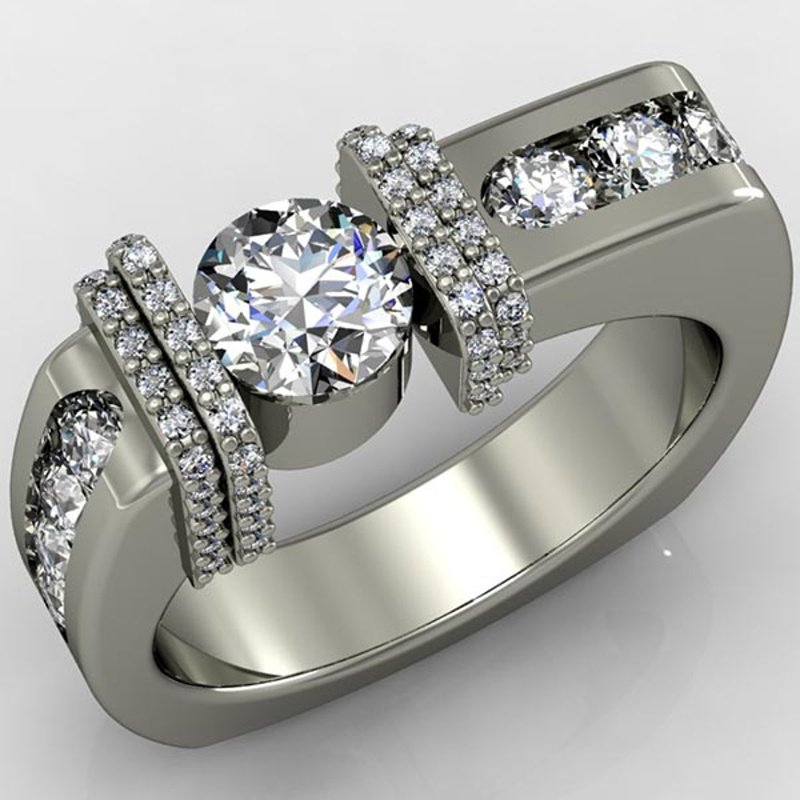 Antony Jewelers Geometrically designed fashion men's ring