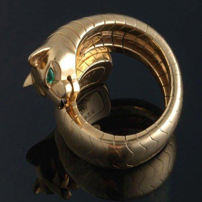"Antony Jewelers Emerald ""CAT EYE "" fashion ring"