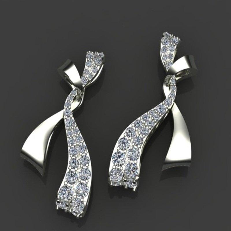 Antony Jewelers Bow style diamond earrings