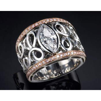 Two-tone Diamond Fahion Ring