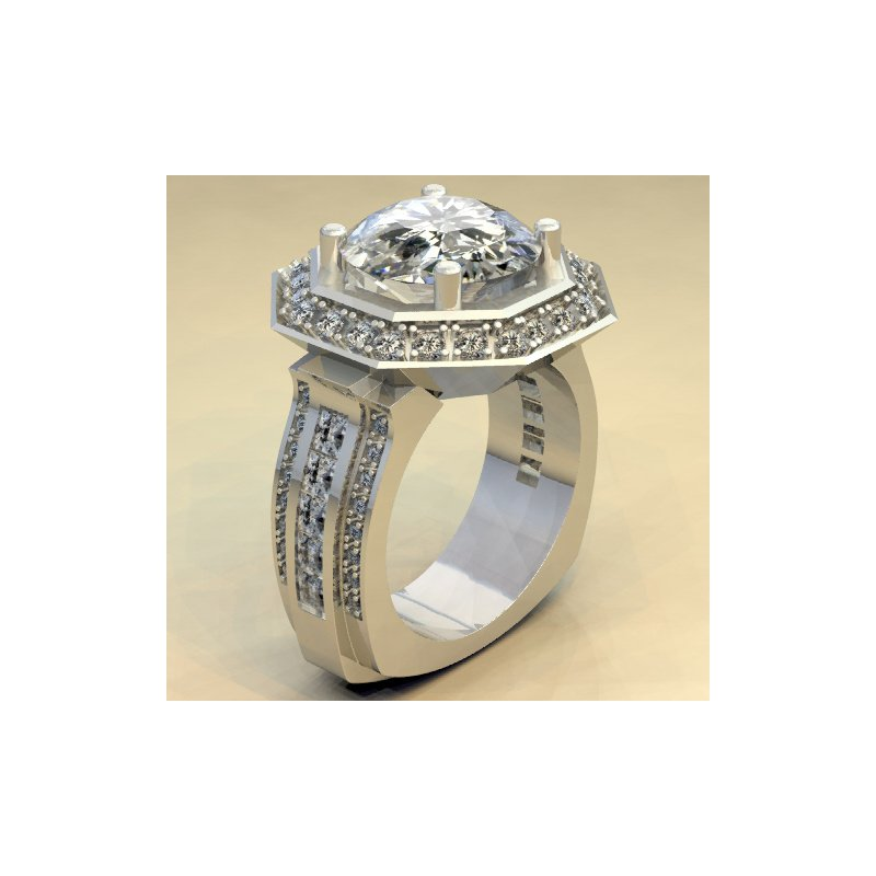 Antony Jewelers One-of-a-kind diamond engagement ring