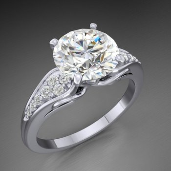 Classical engagement ring