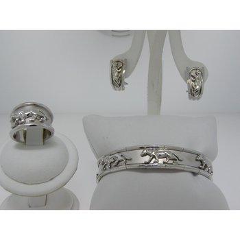 Pantera style set:ring,eaarings,bangle