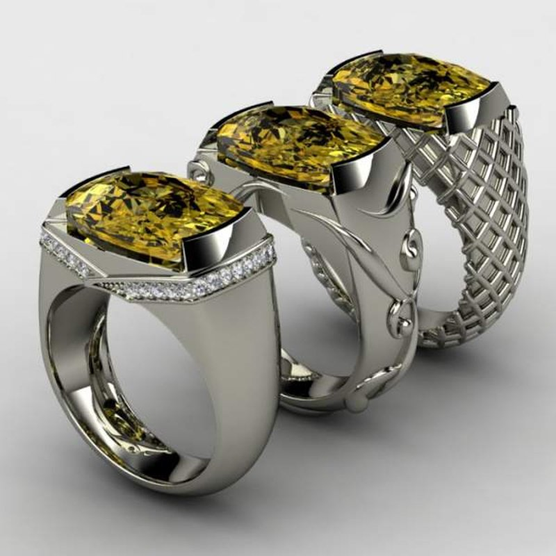 Antony Jewelers Unique fashion ring with yellow sapphire