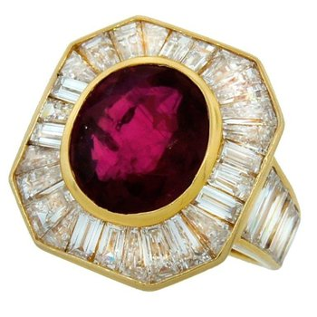 Stylishly beautiful fashion ring with ruby stone