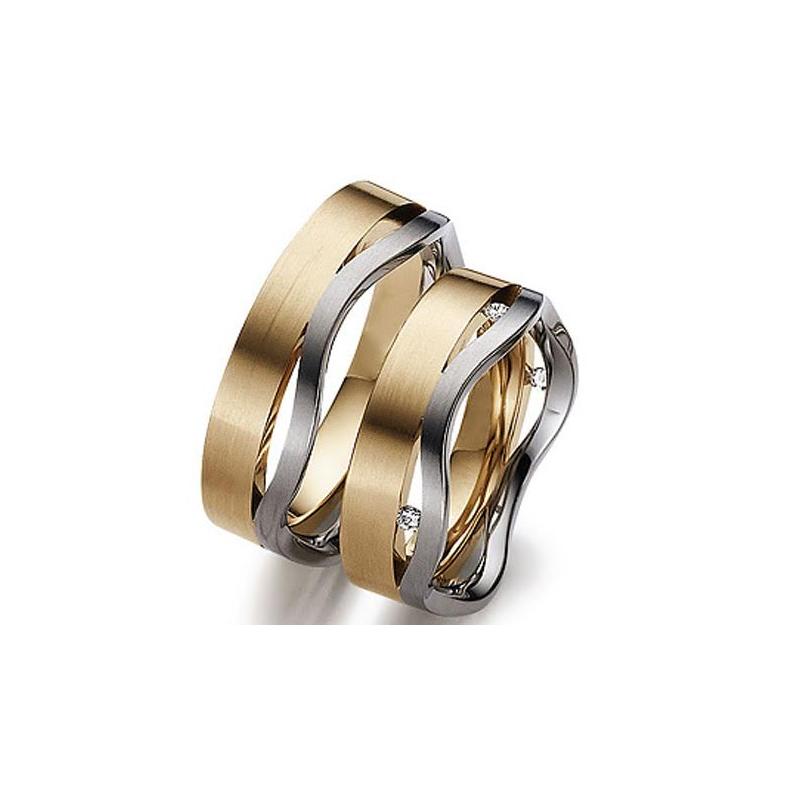 Antony Jewelers Wave Style Two Tone Band