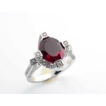 Pigeon blood ruby fashion ring