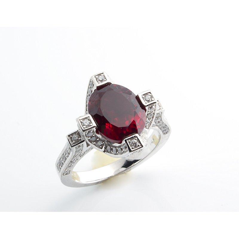 Antony Jewelers Pigeon blood ruby fashion ring