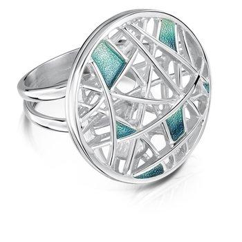 """Spider's Web"" designer fashion ring"