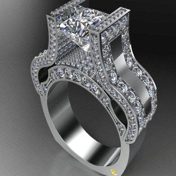 Unique channel setting engagement ring