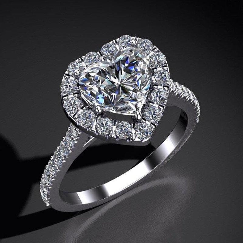 Antony Jewelers Heart shape engagement ring