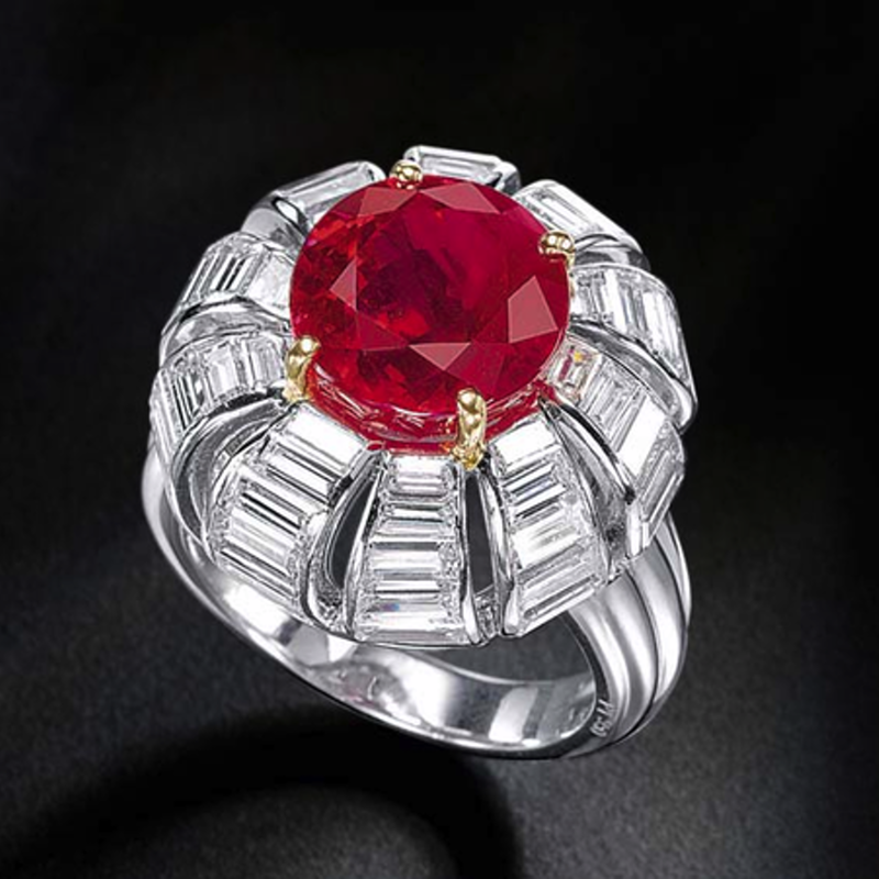 Antony Jewelers Floral fashion ring