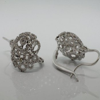 "Diamond ""lace"" earrings"