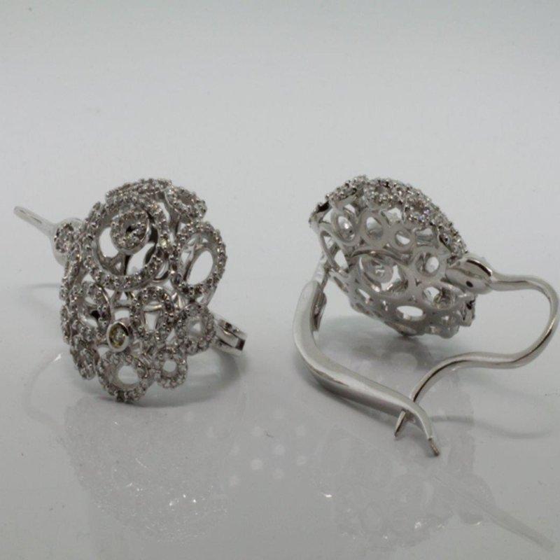 "Antony Jewelers  Diamond ""lace"" earrings"