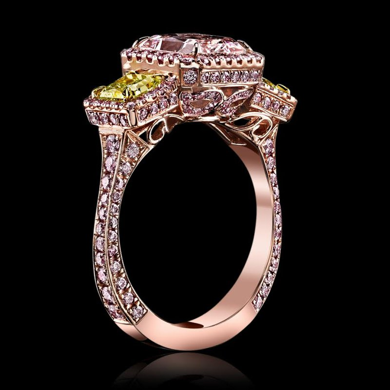 Antony Jewelers Rose gold engagement ring