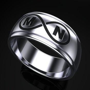 Initial/Infinity  men's ring