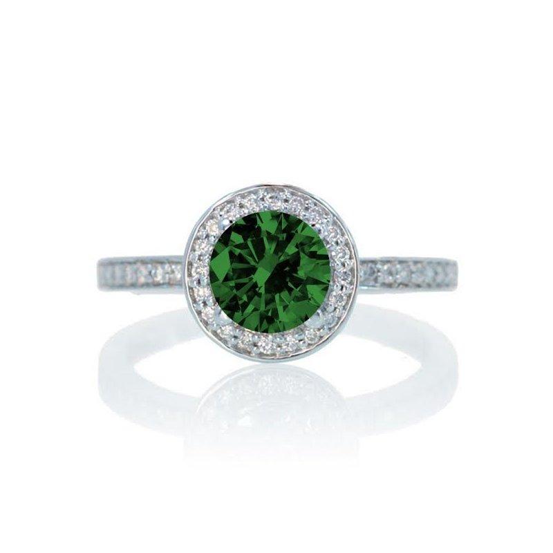 Antony Jewelers Emerald diamond ring set