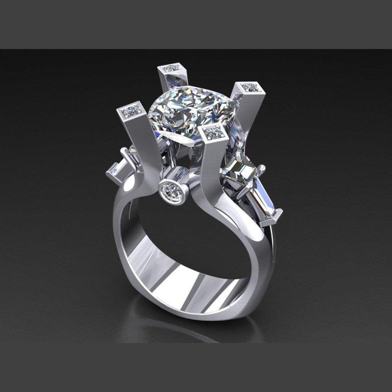 Antony Jewelers European shank diamond engagement ring with round diamond centered