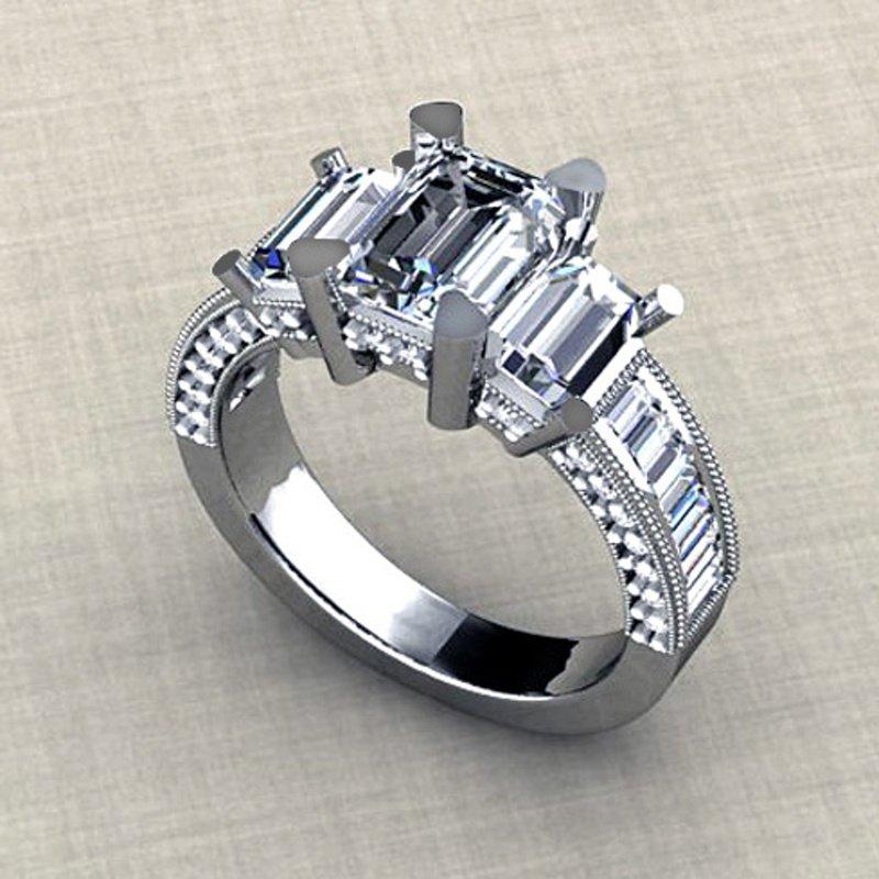 Antony Jewelers Modern diamond engagement ring