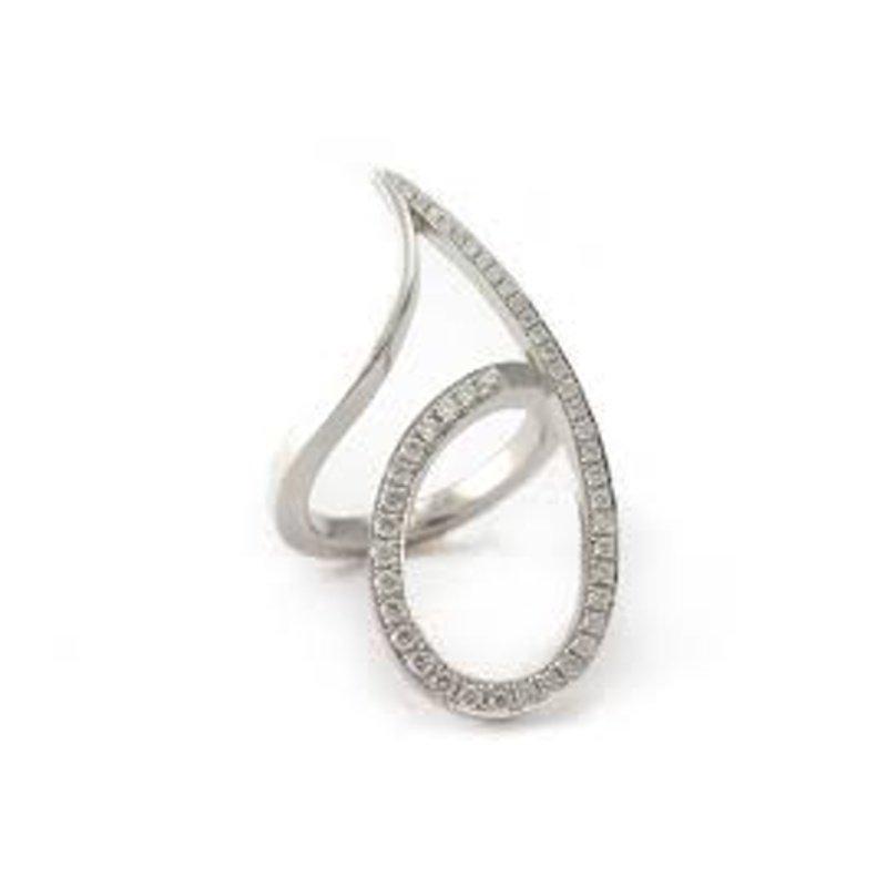 Antony Jewelers Swirl shape fashion ring with diamonds