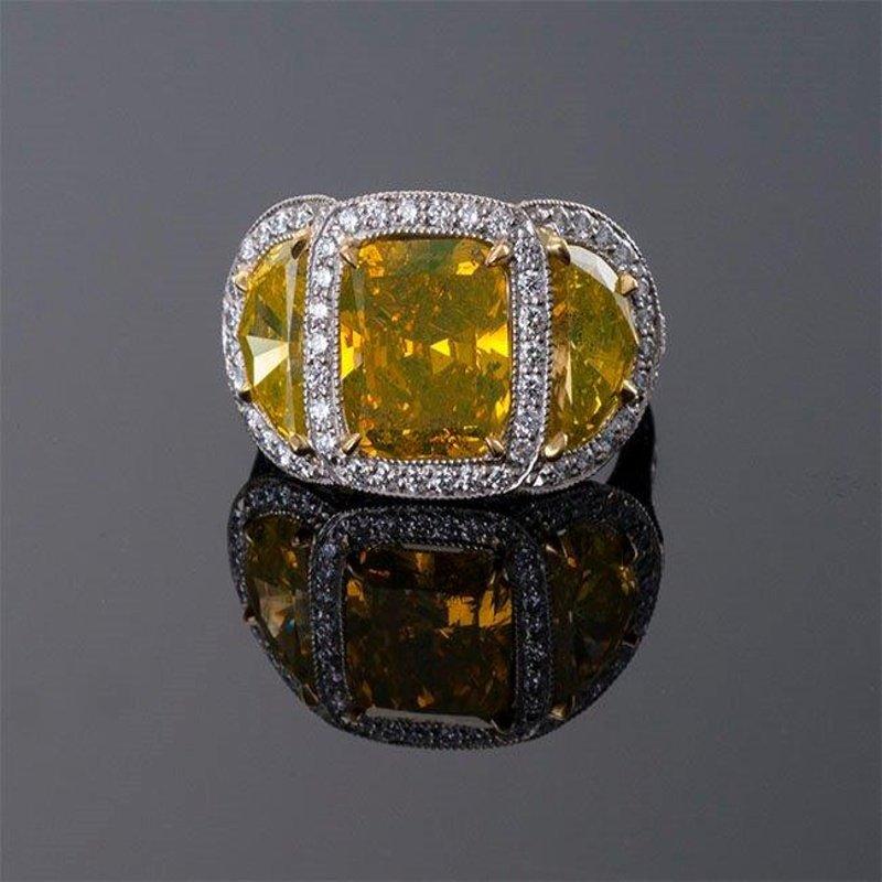 Antony Jewelers Fancy yellow diamond engagement ring
