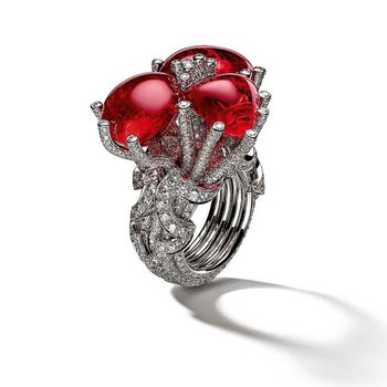 ruby red love ring