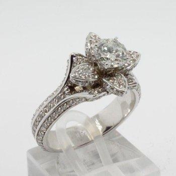"""""""Diamond Flower"""" engagement ring"""