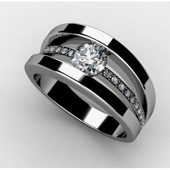 Mid row Diamond engagement ring