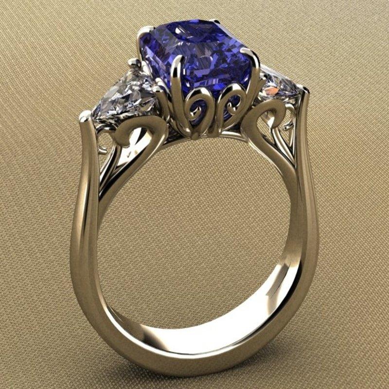Antony Jewelers Beautiful fashion ring with sapphires