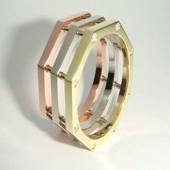Geometrical design fashion wedding band