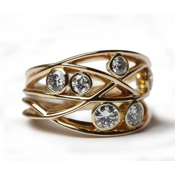Golden girl fashion ring