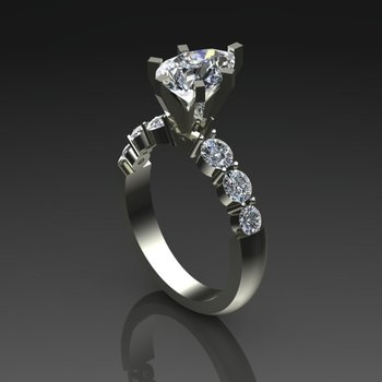 Fine quality marquise diamond engagement ring