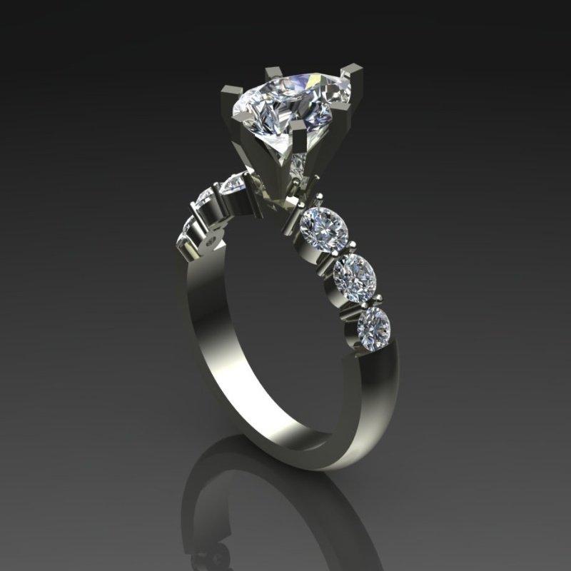 Antony Jewelers Fine quality marquise diamond engagement ring