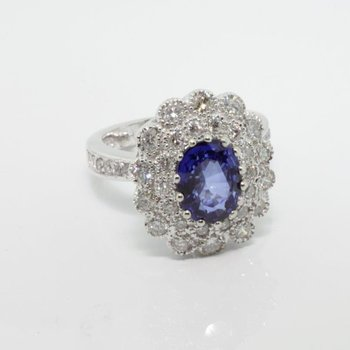 """""""Diana"""" style sapphire engagement ring"""