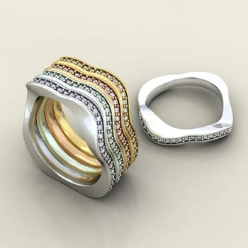 Diamond bands with multi curves
