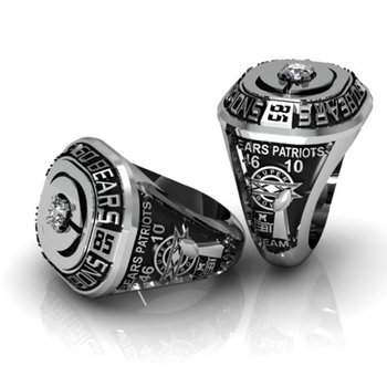 """Patriot"" diamonds men's ring"