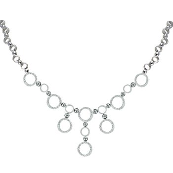 Elegant round necklace with diamonds