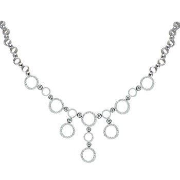 Elegant round necklace with diamonds