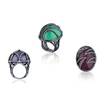 Colorful fashion ring