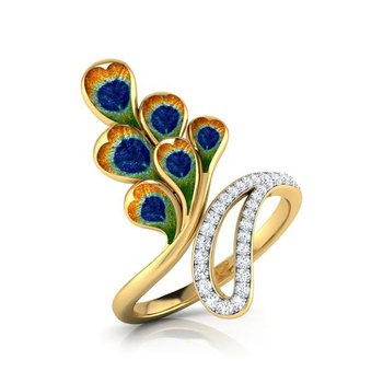 Peacock diamond ring