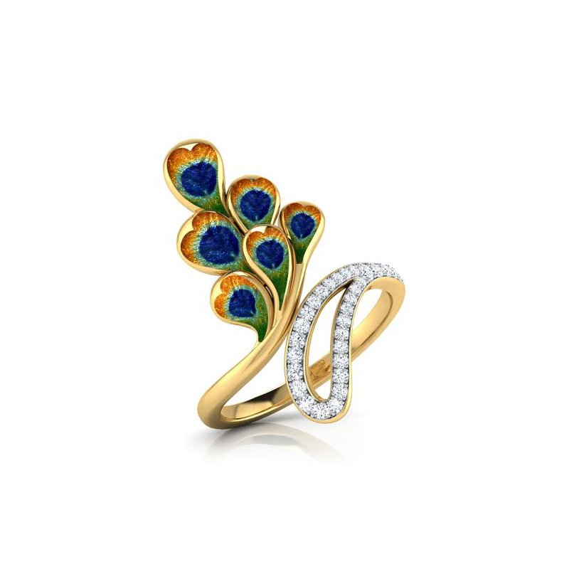 Antony Jewelers Peacock diamond ring