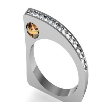 Unique shape diamond ring