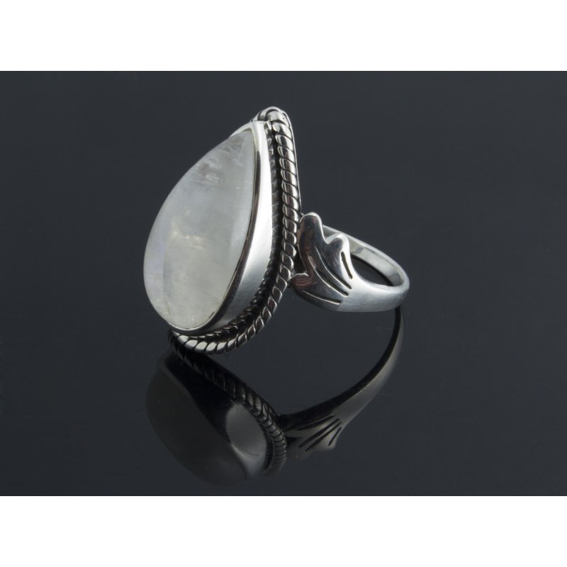 Antony Jewelers Moon stone silver ring