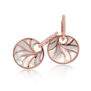 Rose gold earrings with mother-of-pearl