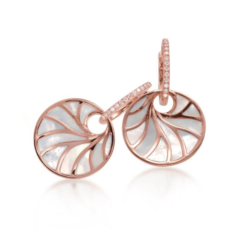 Antony Jewelers Rose gold earrings with mother-of-pearl