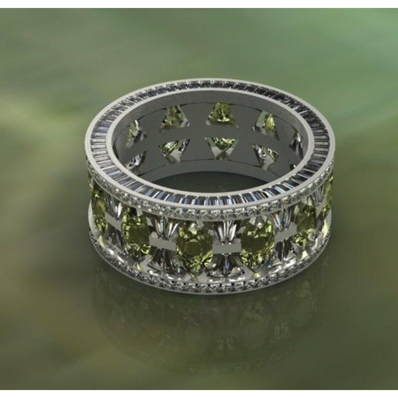 Antony Jewelers Amazing tanzanite diamond band
