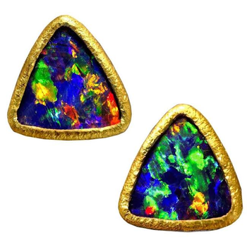 Pyramid Opal Earrings