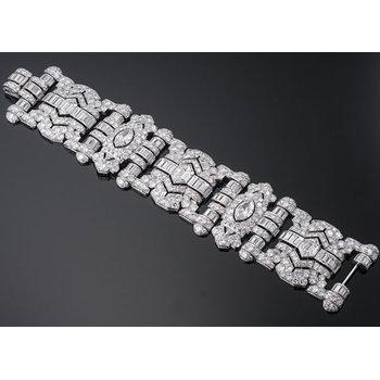 Art-deco style diamond bracelet